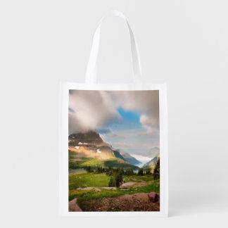 Clouds Sweeping Through Mountains Reusable Grocery Bag