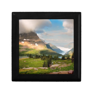 Clouds Sweeping Through Mountains Small Square Gift Box