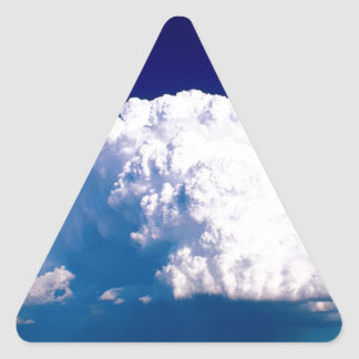 Clouds Thunderhead Sidney Nebraska Triangle Sticker