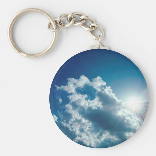 Clouds Watching From Above Keychains