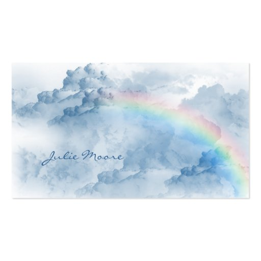Clouds with Rainbow Personal Business Card