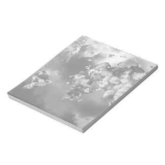 Clouds World Map Notepad