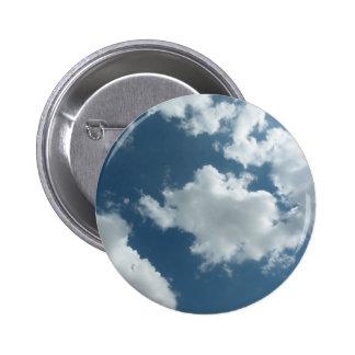 Cloudy 6 Cm Round Badge