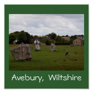 Cloudy Avebury Posters