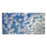 Cloudy Background Photo Greeting Card