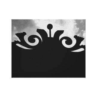 Cloudy Black Gate Canvas Print
