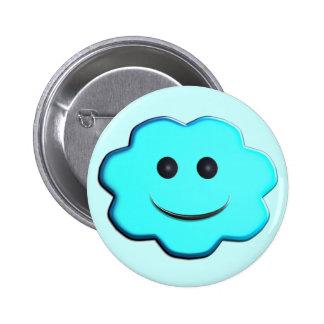 Cloudy - Blue 6 Cm Round Badge