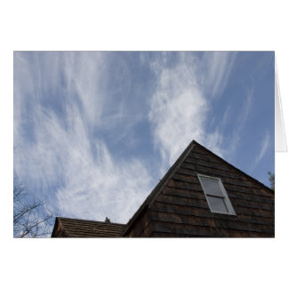 Cloudy Blue Sky over 100 year old home Cards
