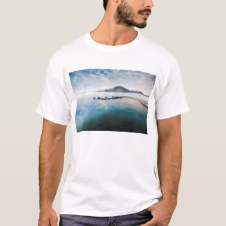 Cloudy Blue Sky Reflecting In Lake T-Shirt