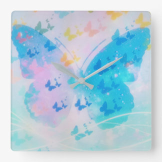 Cloudy Butterfly Clock