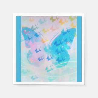 Cloudy Butterfly Napkins Disposable Napkin