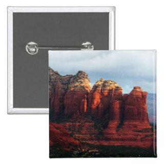 Cloudy Coffee Pot Rock in Sedona Arizona 15 Cm Square Badge