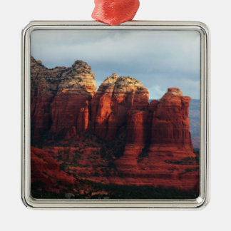 Cloudy Coffee Pot Rock in Sedona Arizona Silver-Colored Square Decoration