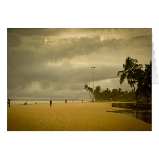 Cloudy Day in Goa Card