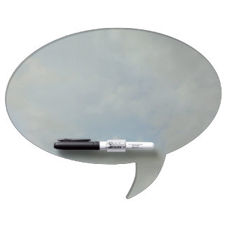 Cloudy day speech bubble dry erase board