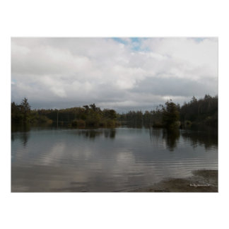 Cloudy Days - Empire Lake Coos Bay, OR Poster