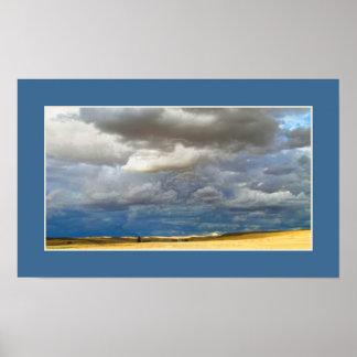 Cloudy desert poster
