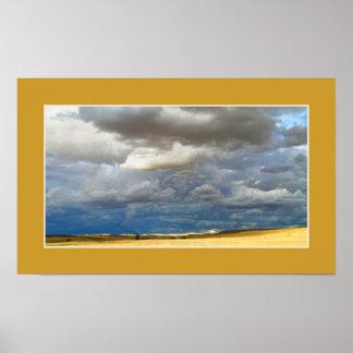 Cloudy desert print