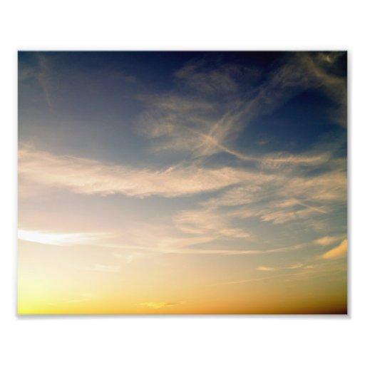 Cloudy dusk photo