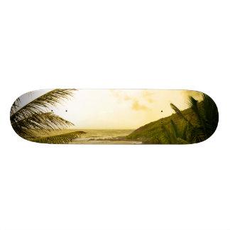 Cloudy Goa Beach Custom Skate Board