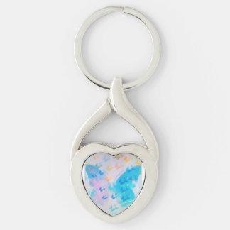 Cloudy Heart Butterfly Keychain