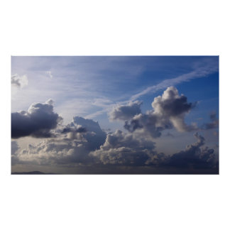 Cloudy Italian Sky Poster