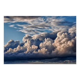 Cloudy Italian Sky - Stormy almost Poster