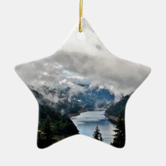 Cloudy Lake Christmas Ornament