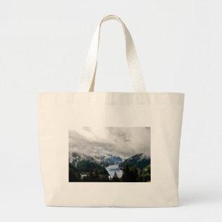 Cloudy Lake Large Tote Bag