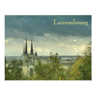 Cloudy Luxembourg Postcard