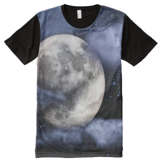 Cloudy Moon All-Over Print T-Shirt