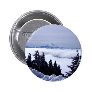 Cloudy Mountain 6 Cm Round Badge