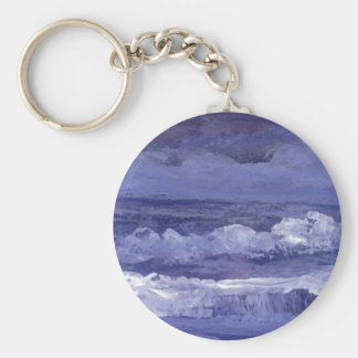 Cloudy Night Sea - CricketDiane Ocean Art Basic Round Button Key Ring