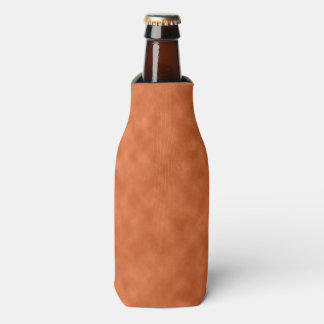 Cloudy Orange and Gray (Grey) Abstract Pattern Bottle Cooler
