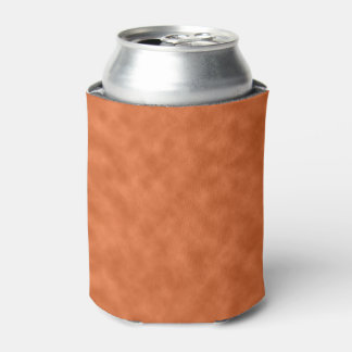 Cloudy Orange and Gray (Grey) Abstract Pattern Can Cooler