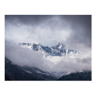 Cloudy Peak of Mt Everest & Eagle Flying Postcard
