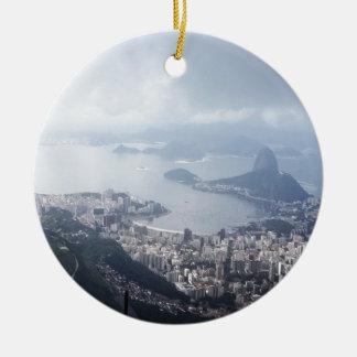 Cloudy Rio de Janeiro Christmas Ornament