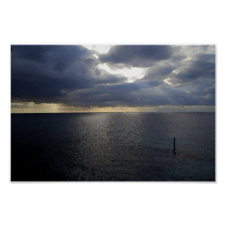 Cloudy Sea Poster Poster