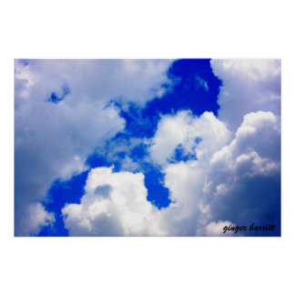 Cloudy Skies by ginger barritt Poster