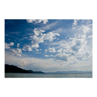 Cloudy Sky at Tahoe Poster