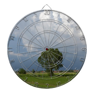 cloudy sky dartboard