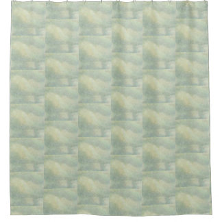 Cloudy Sky From Vintage Artwork Shower Curtain