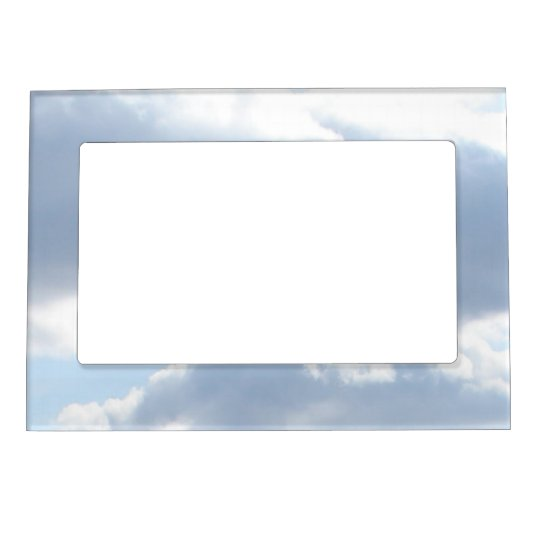Cloudy Sky Magnetic Picture Frame | Blue White