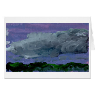 Cloudy sky note card