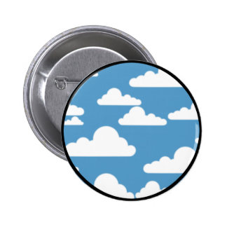 cloudy sky pattern 6 cm round badge