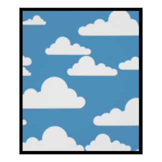 cloudy sky pattern posters