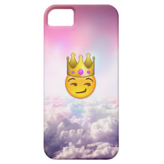 Cloudy Smirk Crown Emoji iPhone Case Barely There iPhone 5 Case