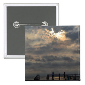 Cloudy Sunrise by Shirley Taylor 15 Cm Square Badge