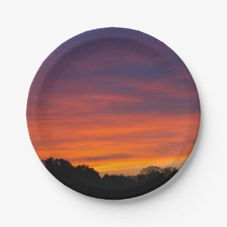 Cloudy Sunset Paper Plates