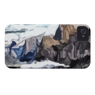 Cloudy Valley painting iPhone 4 Case-Mate Cases